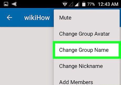 शीर्षक वाली छवि एंड्रॉइड चरण 6 पर ग्रुपमे पर एक समूह का नाम बदलें