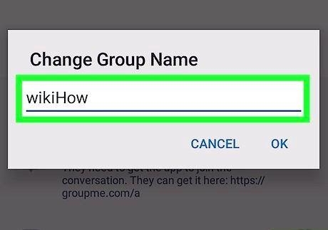 शीर्षक वाली छवि एंड्रॉइड चरण 7 पर ग्रुपमे पर एक समूह का नाम बदलें