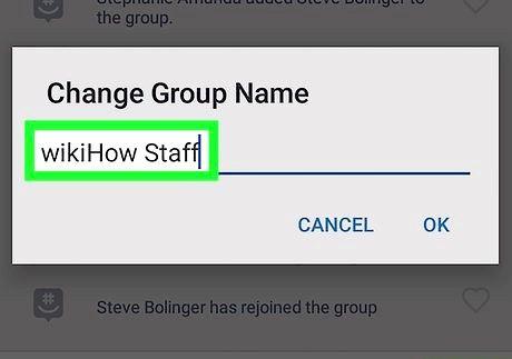 शीर्षक वाली छवि एंड्रॉइड चरण 8 पर ग्रुपमे पर एक समूह का नाम बदलें