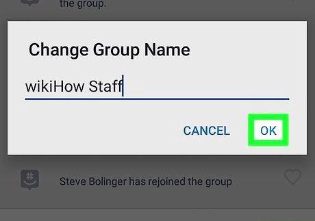 शीर्षक वाली छवि एंड्रॉइड चरण 9 पर ग्रुपमे पर एक समूह का नाम बदलें