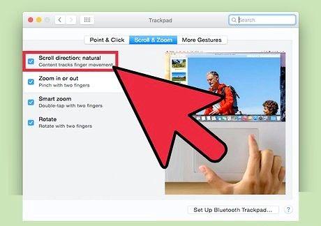 Bildet med tittelen Endre rulleretningen på en Mac-trinn 5