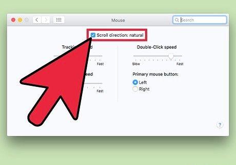 Bildet med tittelen Endre rulleretningen på en Mac-trinn 9