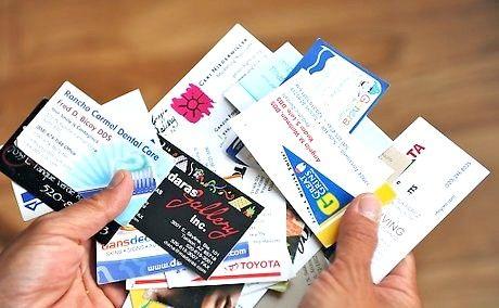 बिजनेस कार्ड कैसे एकत्र करें