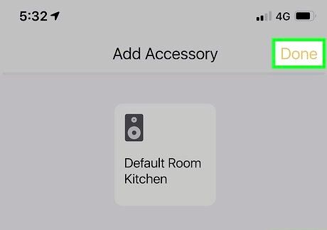 Bilde med tittelen Koble til to Bluetooth-høyttalere med AirPlay Trinn 5