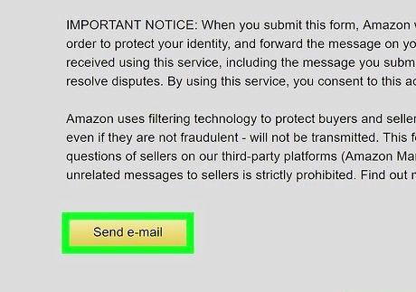 अमेज़ॅन चरण 9 पर एक विक्रेता से संपर्क करें छवि