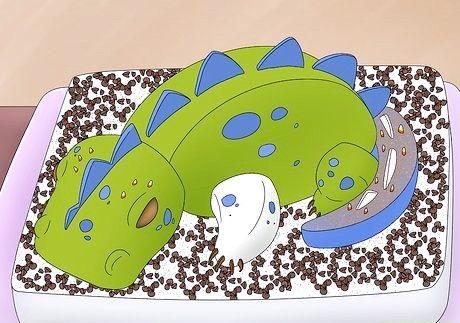 शीर्षक वाली छवि एक 3 डी डायनासोर जन्मदिन केक चरण 15 बनाओ