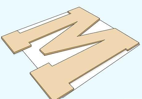 लकड़ी के अक्षरों को कैसे सजाने के लिए