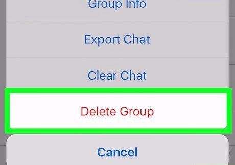आईफोन या आईपैड चरण 8 पर व्हाट्सएप पर एक समूह को हटाएं