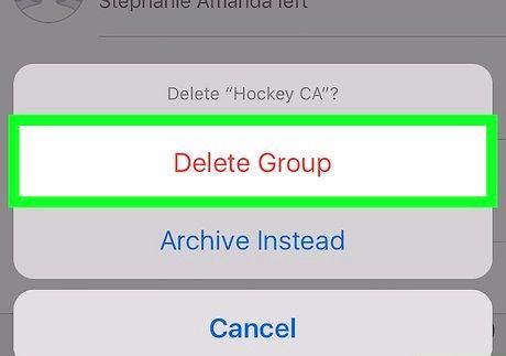 आईफोन या आईपैड चरण 9 पर व्हाट्सएप पर एक समूह को हटाएं