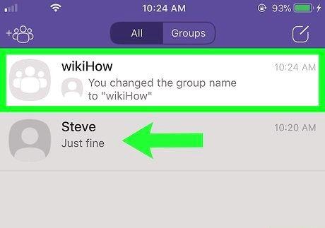 आईफोन या आईपैड चरण 3 पर एक Viber समूह को हटाएं