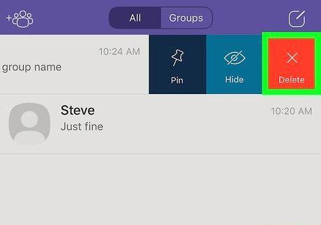 आईफोन या आईपैड चरण 4 पर एक Viber समूह का शीर्षक छवि