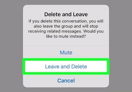 आईफोन या आईपैड चरण 5 पर एक Viber समूह को हटाएं छवि
