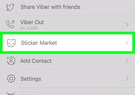 आईफोन या आईपैड चरण 3 पर Viber पर स्टिकर डिलीट स्टिकर शीर्षक