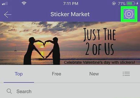 आईफोन या आईपैड चरण 4 पर Viber पर स्टिकर डिलीट स्टिकर शीर्षक