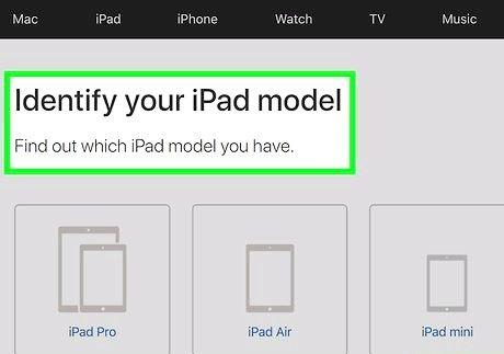 आईपैड मॉडल / संस्करण का निर्धारण कैसे करें