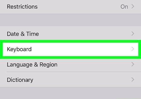 आईफोन या आईपैड चरण 3 पर एक कीबोर्ड को अक्षम करें
