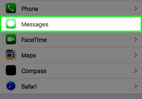 एक iPhone चरण 2 पर अक्षम समूह संदेश शीर्षक वाली छवि