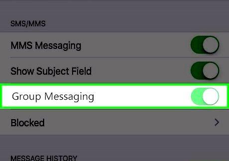 छवि एक आईफोन चरण 3 पर समूह संदेश को अक्षम करें