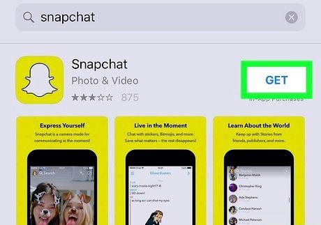 स्नैपचैट ऐप चरण 6 डाउनलोड करें शीर्षक