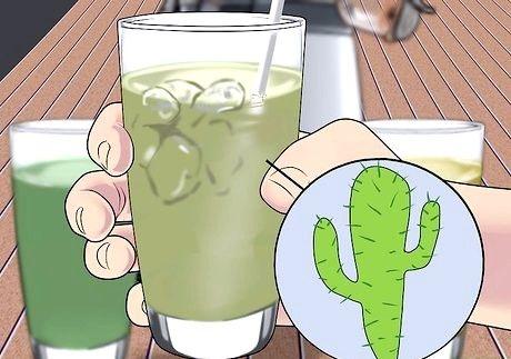 स्वास्थ्य चरण 5 के लिए पेय कैक्टस पानी शीर्षक वाली छवि
