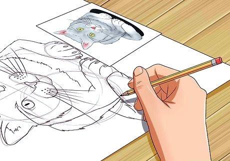 Bildens tittel bli god til å tegne trinn 7