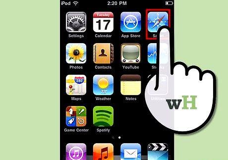 आईपॉड टच चरण 6 पर इंटरनेट शीर्षक वाली छवि