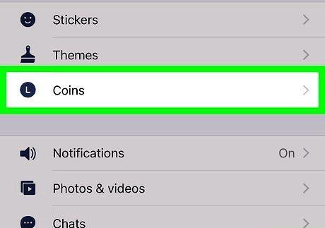 Bilde med tittelen Få linjeappmynter på iPhone eller iPad trinn 4